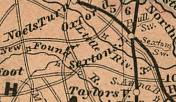 Map showing Doswell as Sexton's Junction